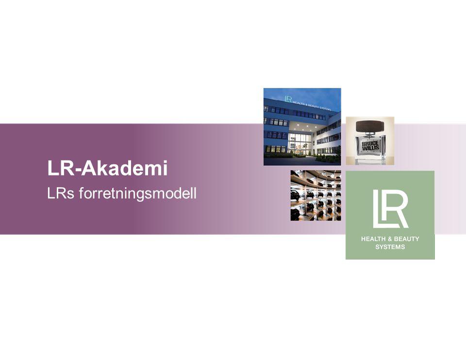 LR-Akademi Grunnlag markedsføringsplan LR-Akademi LRs forretningsmodell