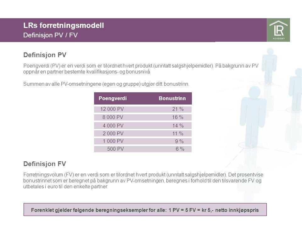 Definisjon PV Poengverdi (PV) er en verdi som er tilordnet hvert produkt (unntatt salgshjelpemidler). På bakgrunn av PV oppnår en partner bestemte kva