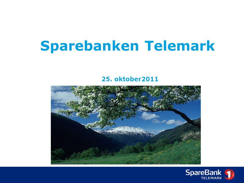 SpareBank 1 Telemark - 2011 7 filialer/kontorer Markedsandel innenfor privatmarkedet (PM) i Grenland er ca.