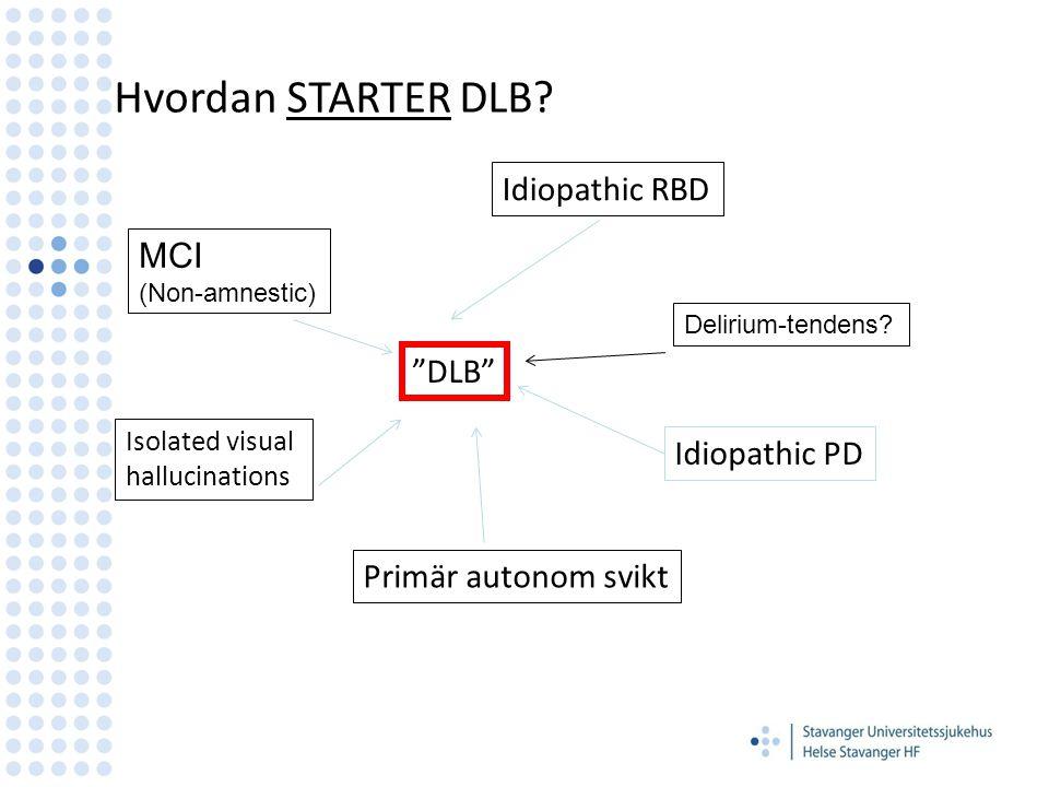 Presenting symptoms of dementia with Lewy bodies Auning, Rongve, Fladby, Hortobágyi, Ballard, Aarsland.