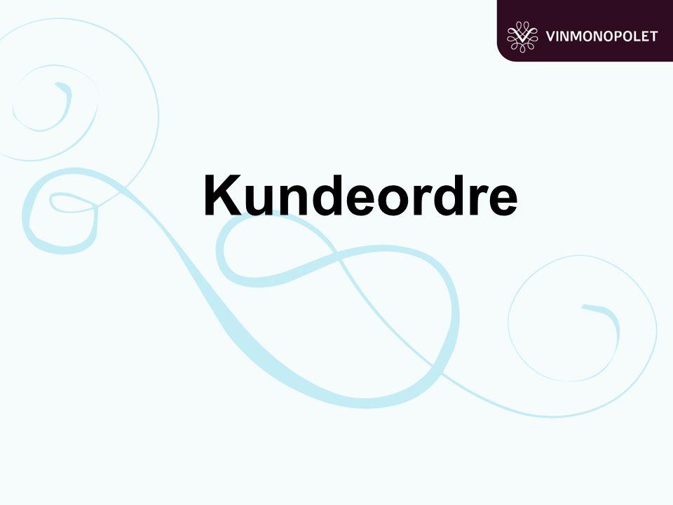 Kundeordretyper: Kundeordre (998) (Oscar: diversekunde) Anonyme kundeordrer hvor kundens navn og telefonnummer legges inn hver gang.