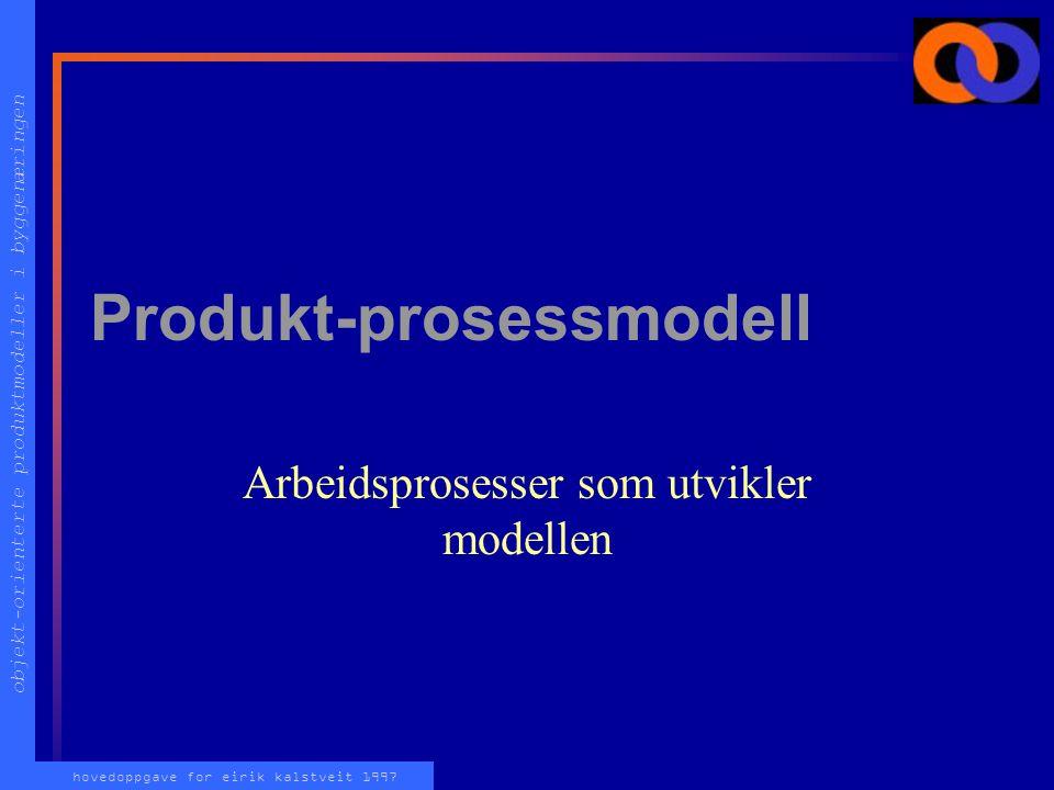 """objekt-orienterte produktmodeller i byggenæringen hovedoppgave for eirik kalstveit 1997 Attributter på realiserings-nivå Faktiske verdier på """"virkelig"""