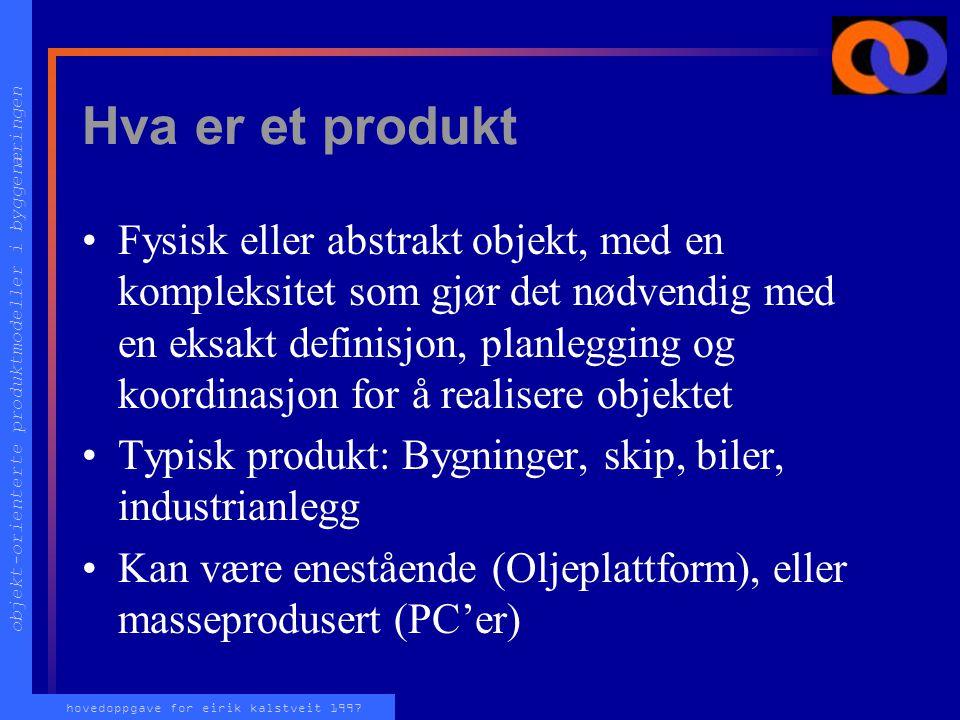 objekt-orienterte produktmodeller i byggenæringen hovedoppgave for eirik kalstveit 1997 Informasjonsutveksling System A System B NURBS Circle Polyline
