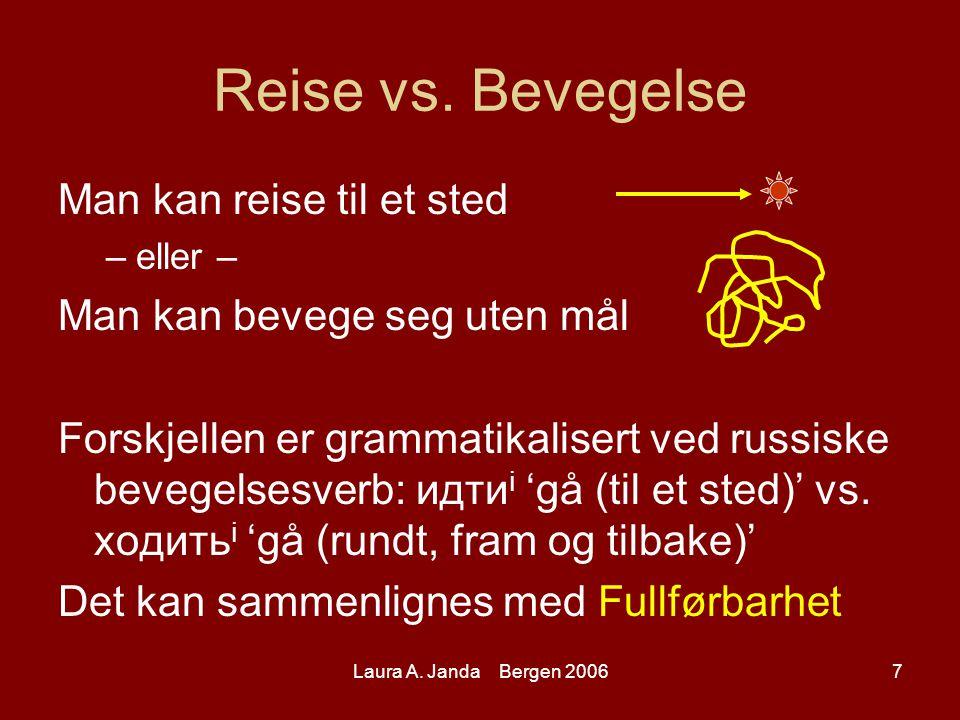 Laura A. Janda Bergen 20067 Reise vs.