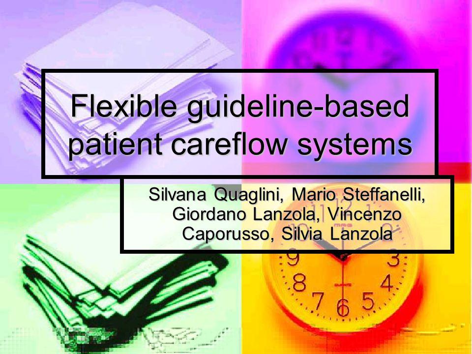 Flexible guideline-based patient careflow systems Silvana Quaglini, Mario Steffanelli, Giordano Lanzola, Vincenzo Caporusso, Silvia Lanzola