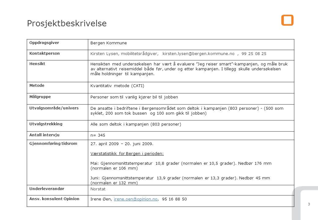 4 Kort om utvalget Om utvalget Som i 2008, gikk Bergen kommune våren 2009 ut med et tilbud til ansatte i ca 50 bedrifter i områdene Sentrum, Bergensdalen, Sandsli/ Kokstad.