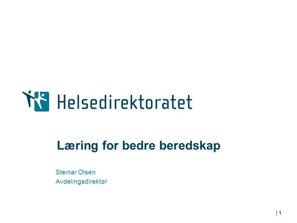 Læring for bedre beredskap Steinar Olsen Avdelingsdirektør | 1