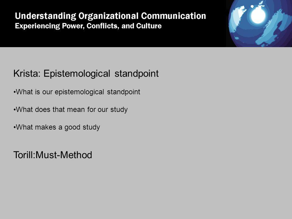 MUST method Vår anvendelse av MUST Prinsippet om en samlet visjon Prinsippet om reell brukerdeltagelse