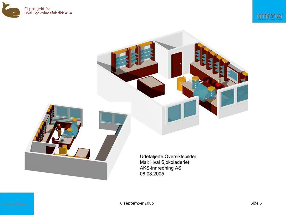 Børge Nilssen Et prosjekt fra Hval Sjokoladefabrikk ASA 6.september 2005Side 6