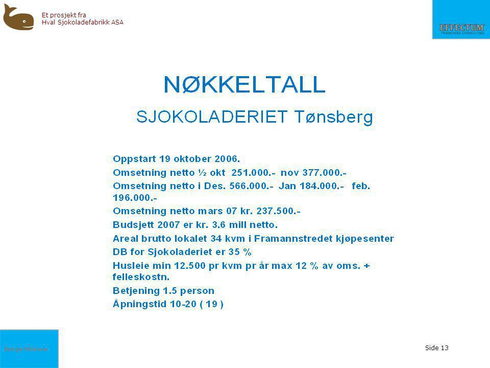Børge Nilssen Et prosjekt fra Hval Sjokoladefabrikk ASA Side 13