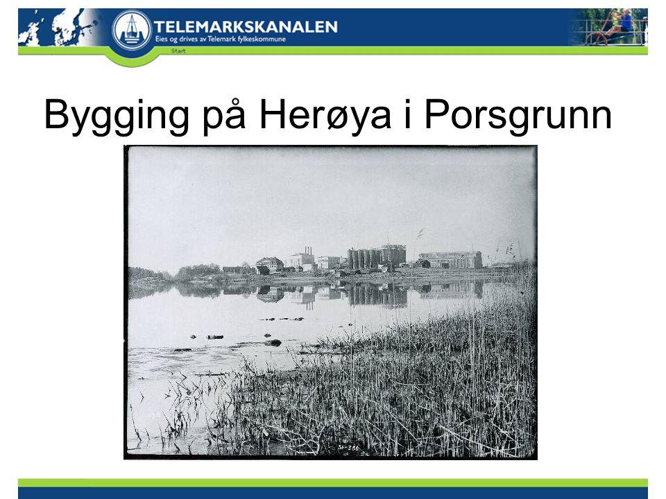 Bygging på Herøya i Porsgrunn