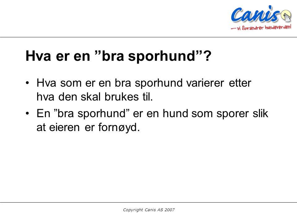 Copyright Canis AS 2007 Oppsummering Spor er tøft. Rundering er for pyser! :-)