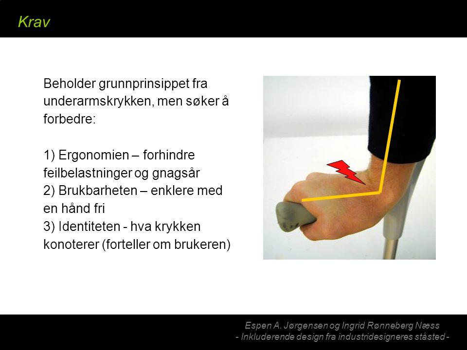 Espen A. Jørgensen og Ingrid Rønneberg Næss - Inkluderende design fra industridesigneres ståsted - Krav Beholder grunnprinsippet fra underarmskrykken,