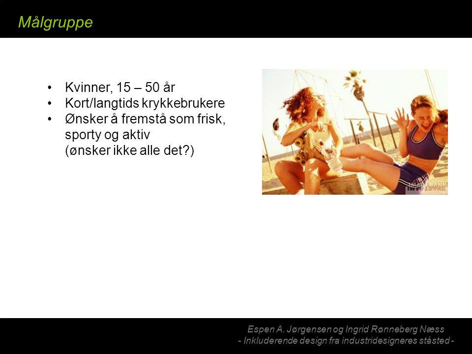 Espen A. Jørgensen og Ingrid Rønneberg Næss - Inkluderende design fra industridesigneres ståsted - Primærbruker (kjøper) Kvinner, 15 – 50 år Kort/lang
