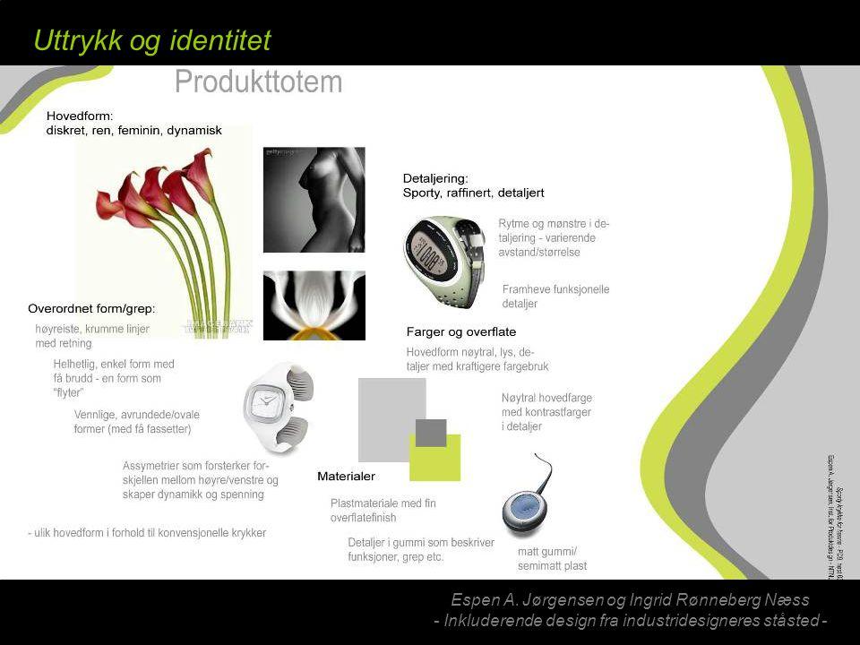 Espen A. Jørgensen og Ingrid Rønneberg Næss - Inkluderende design fra industridesigneres ståsted - Uttrykk og identitet
