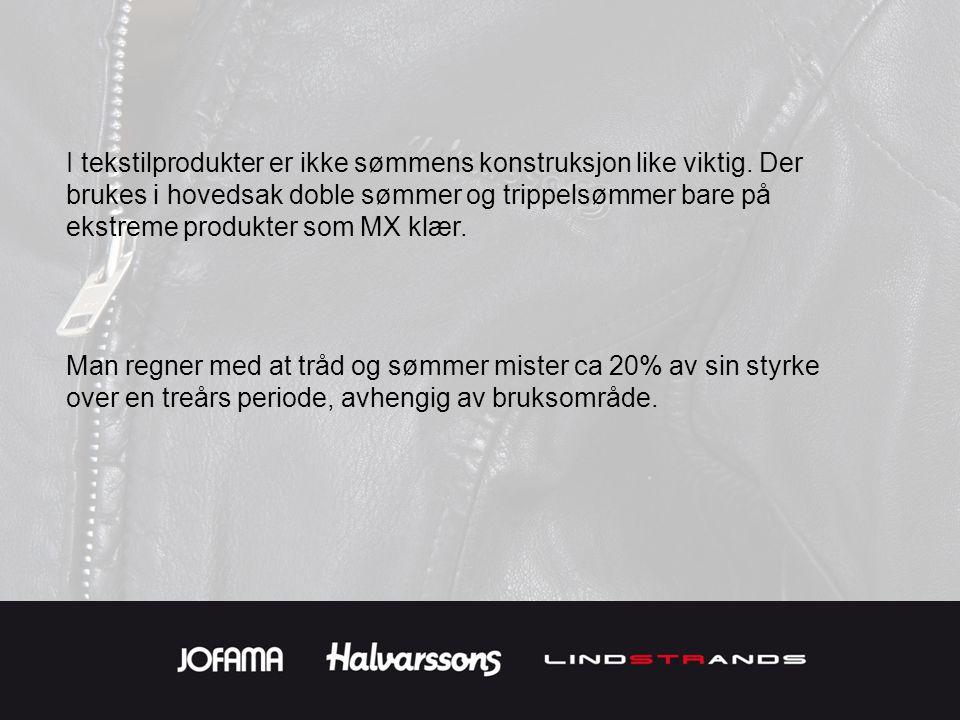 Takk for at du har brukt 10 min på å lese om Jofamas produkter og vårt syn på sømteknikk!