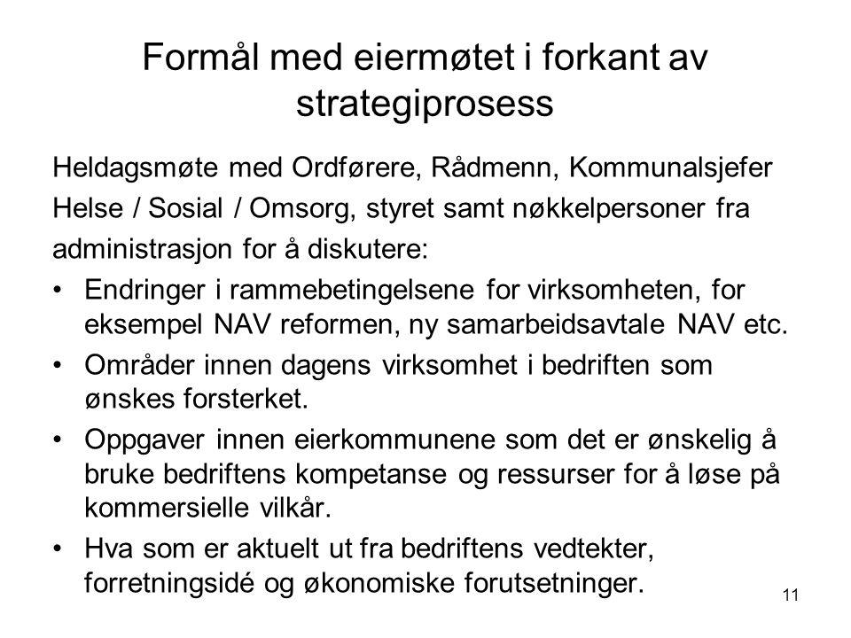 12 NAV og eierkommunene Mål 2008 - 2011: NAVs foretrukne samarbeidspartner innen arbeidsmarkedstiltak for yrkeshemmede og arbeidsrelatert attføring i Time / Klepp / Hå.