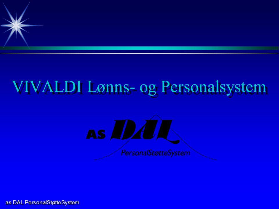as DAL PersonalStøtteSystem VIVALDI Lønns- og Personalsystem