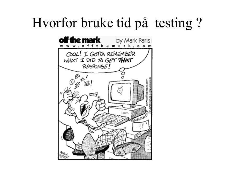 Hva er testing .