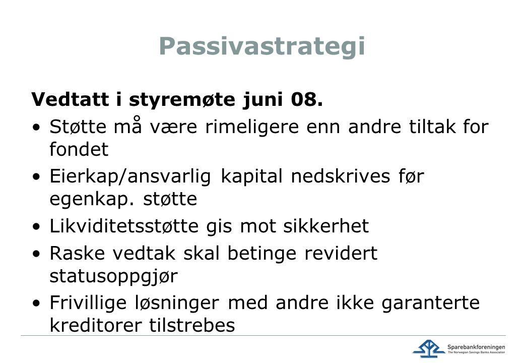 Passivastrategi Vedtatt i styremøte juni 08.