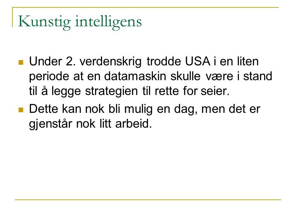 Kunstig intelligens Under 2.