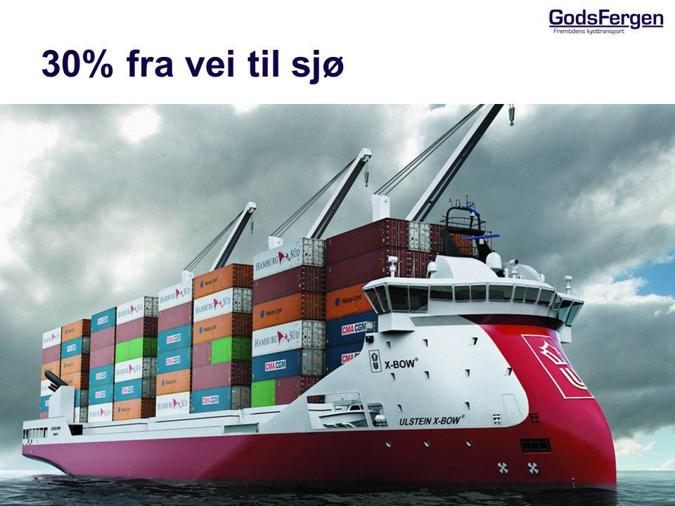 30% fra vei til sjø