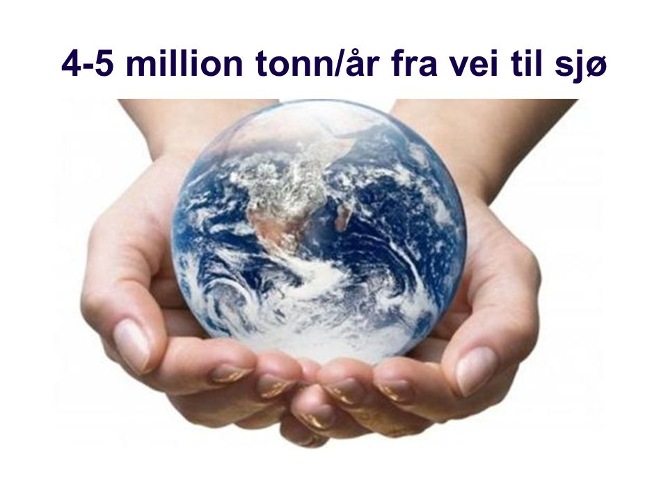 4-5 million tonn/år fra vei til sjø