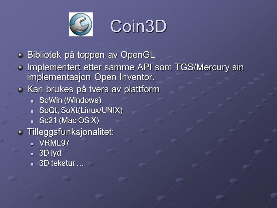 Oppbygging Coin3D