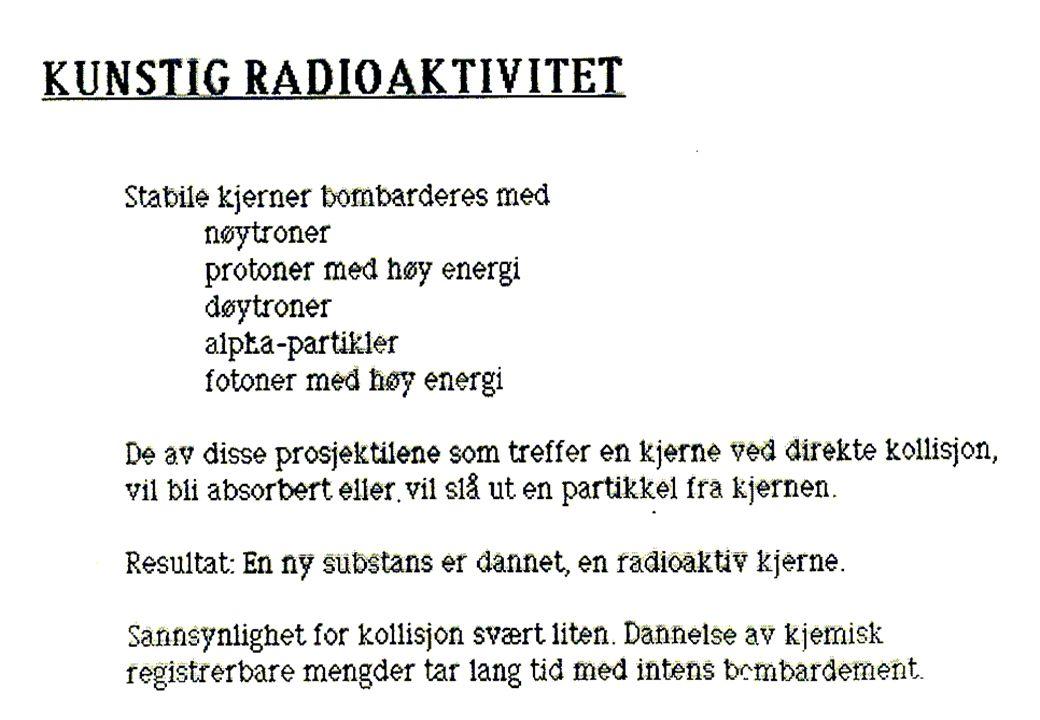 GRUPPE: LIKE FYSISKE OG KJEMISKE EGENSKAPER PERIODE: ENERGINIVÅ TIL KJERNEPARTIKLENE