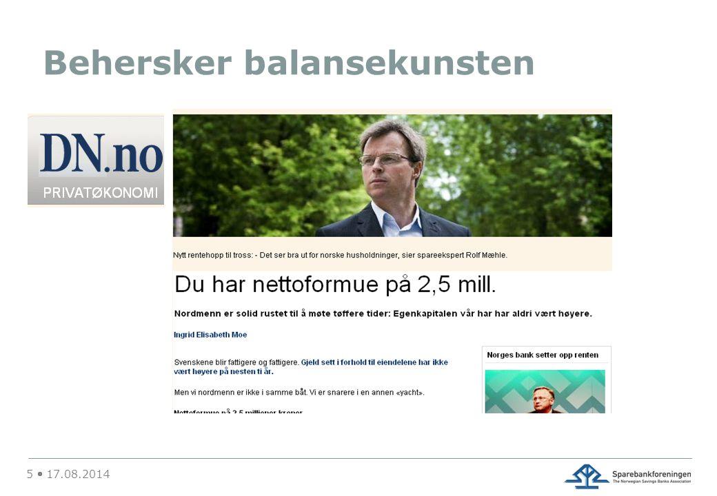 26  17.08.2014 Hver femte nordmann har renteangst