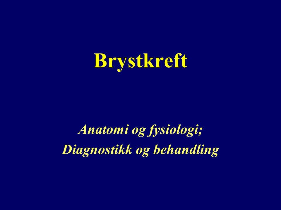 Brystkreft Anatomi og fysiologi; Diagnostikk og behandling