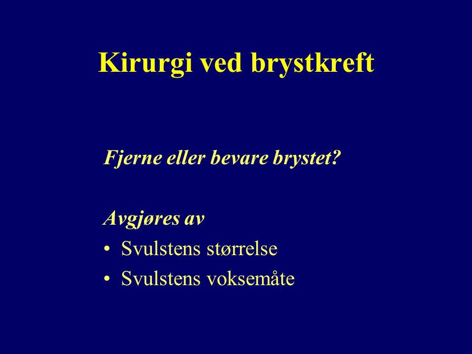Kirurgi ved brystkreft Fjerne eller bevare brystet.
