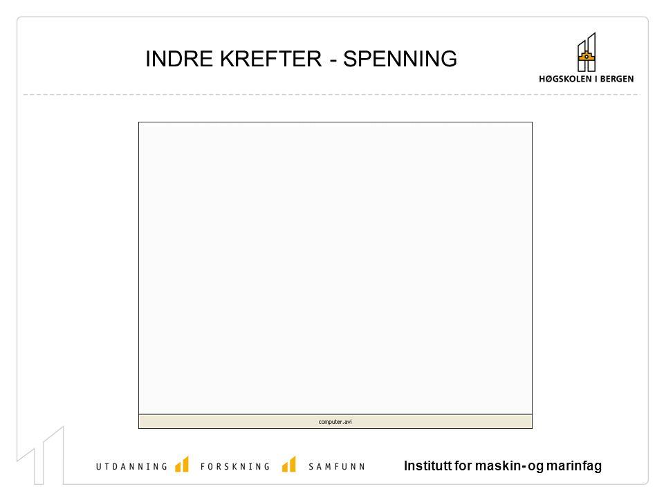 Institutt for maskin- og marinfag INDRE KREFTER - SPENNING