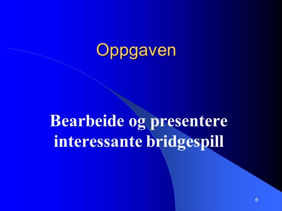 6 Oppgaven Bearbeide og presentere interessante bridgespill