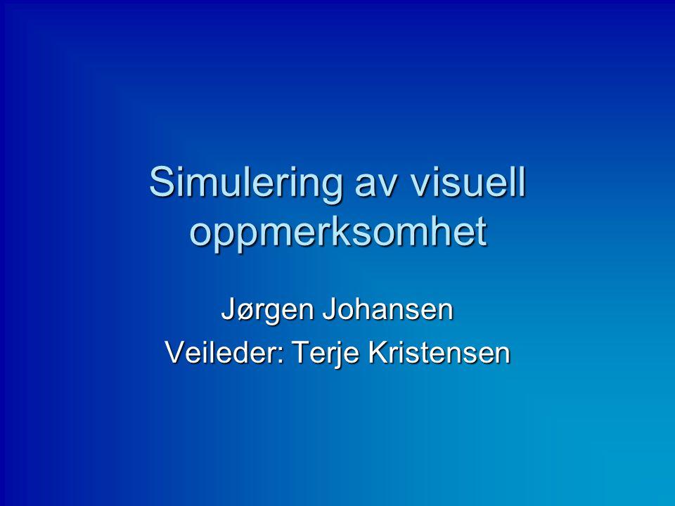 Simulering av visuell oppmerksomhet Jørgen Johansen Veileder: Terje Kristensen