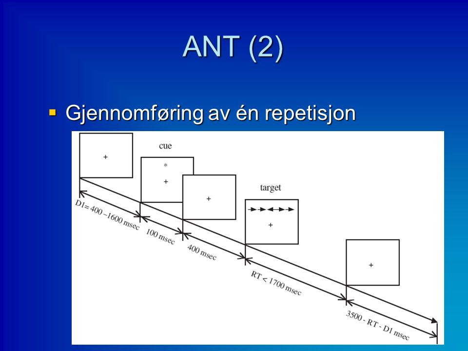 ANT (2)  Gjennomføring av én repetisjon