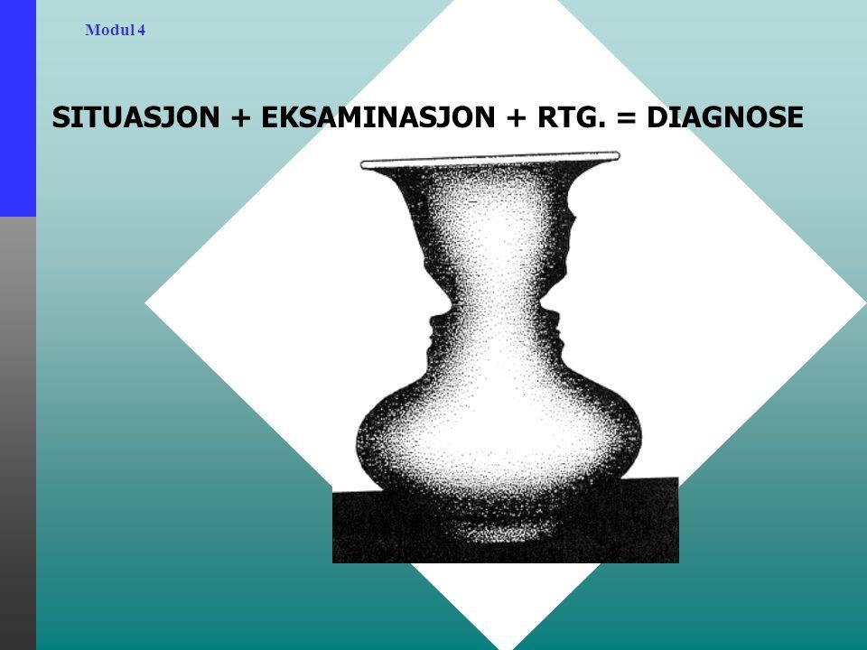 Modul 4 SITUASJON + EKSAMINASJON + RTG. = DIAGNOSE