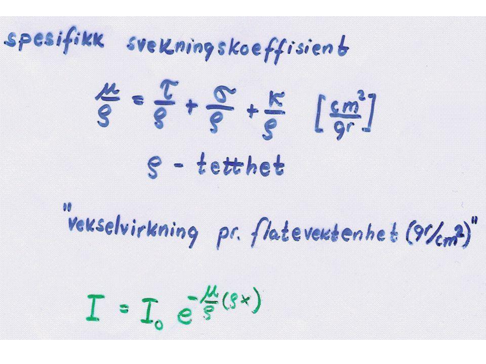SPØRSMÅL: SPESIFIKK SVEKKINGSKOEFFISISENT FOR KULL ER 0.0635 CM 2 /G (VED 1.0MeV).
