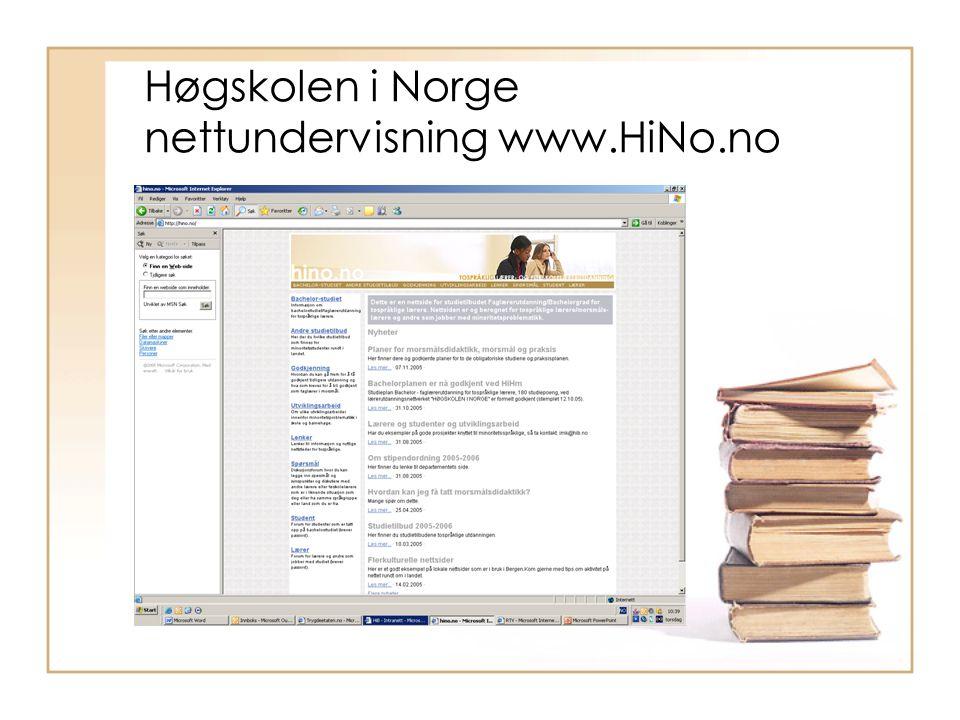 Høgskolen i Norge nettundervisning www.HiNo.no