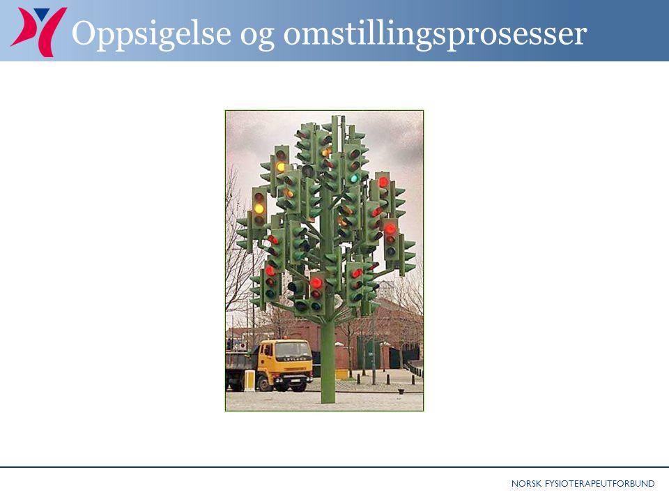 NORSK FYSIOTERAPEUTFORBUND Oppsigelse og omstillingsprosesser