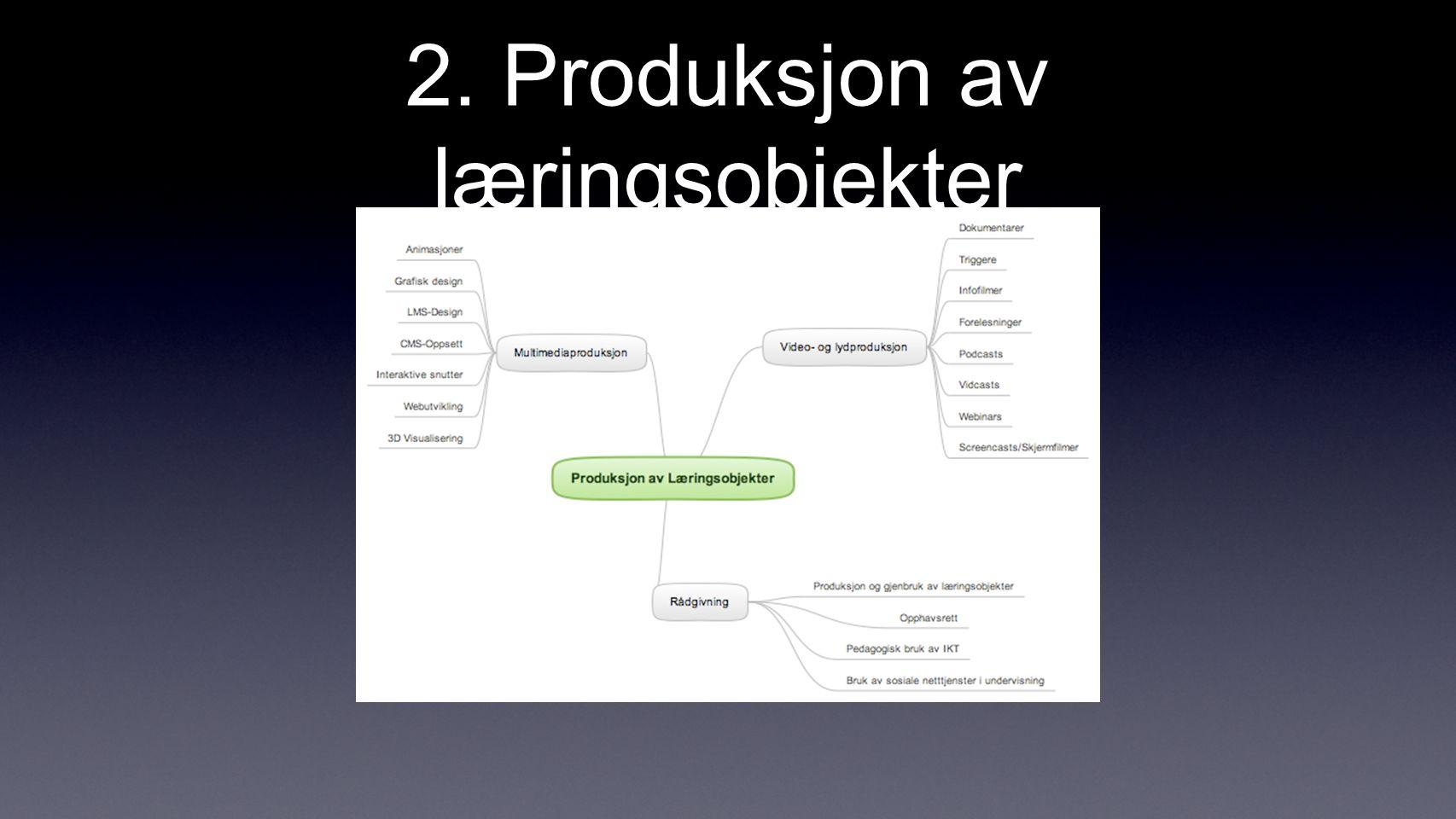 2. Produksjon av læringsobjekter