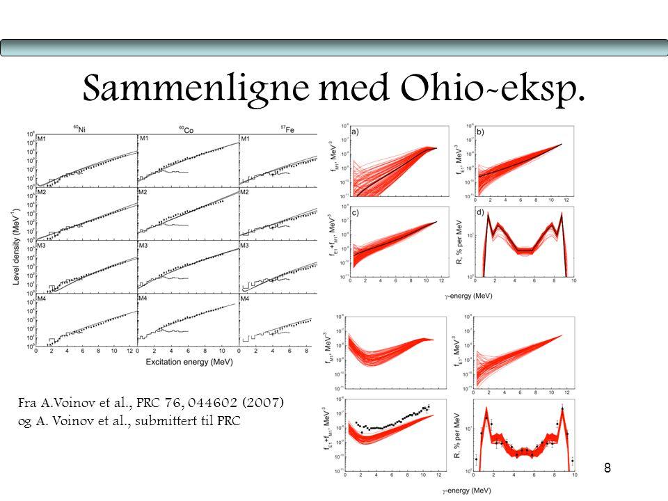 8 Sammenligne med Ohio-eksp.Fra A.Voinov et al., PRC 76, 044602 (2007) og A.