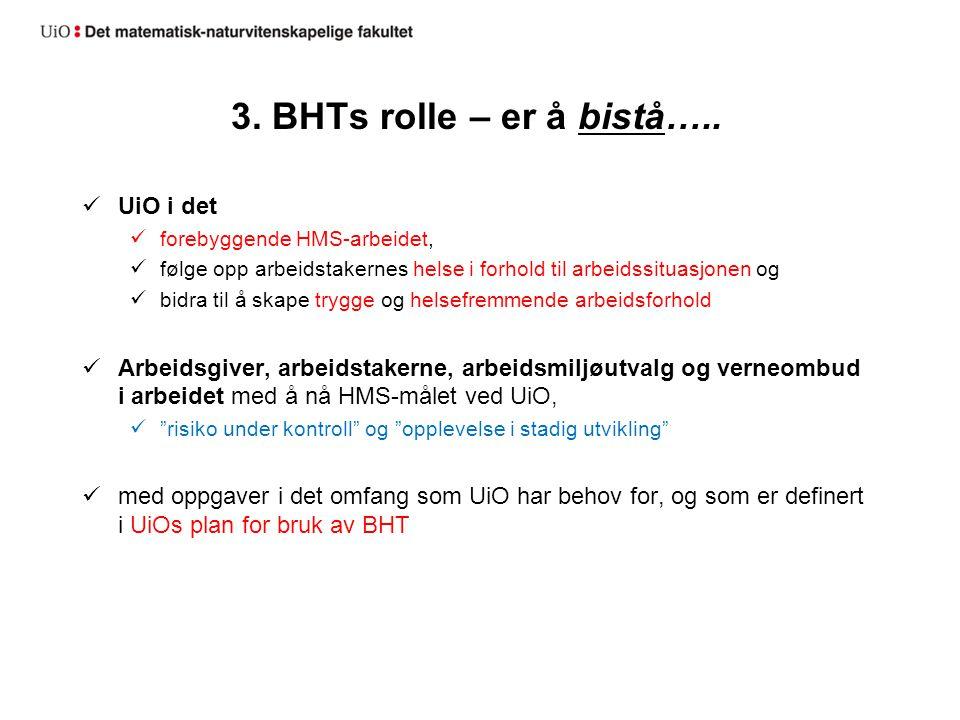 3. BHTs rolle – er å bistå…..