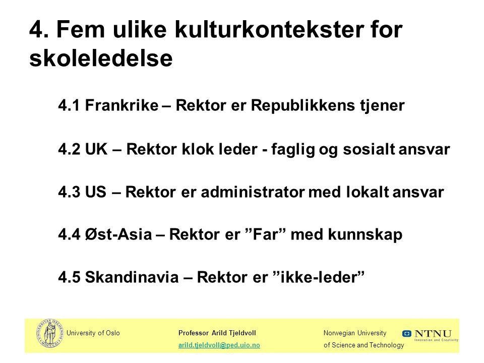 University of OsloProfessor Arild TjeldvollNorwegian University arild.tjeldvoll@ped.uio.noof Science and Technologyarild.tjeldvoll@ped.uio.no 5.