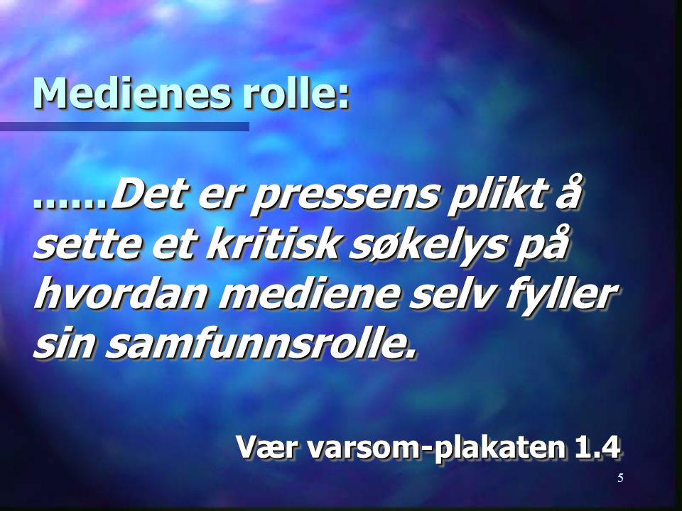 6 Nils Øy: Skeptisk til seminarer der deltakerne skal lære å takle mediene .