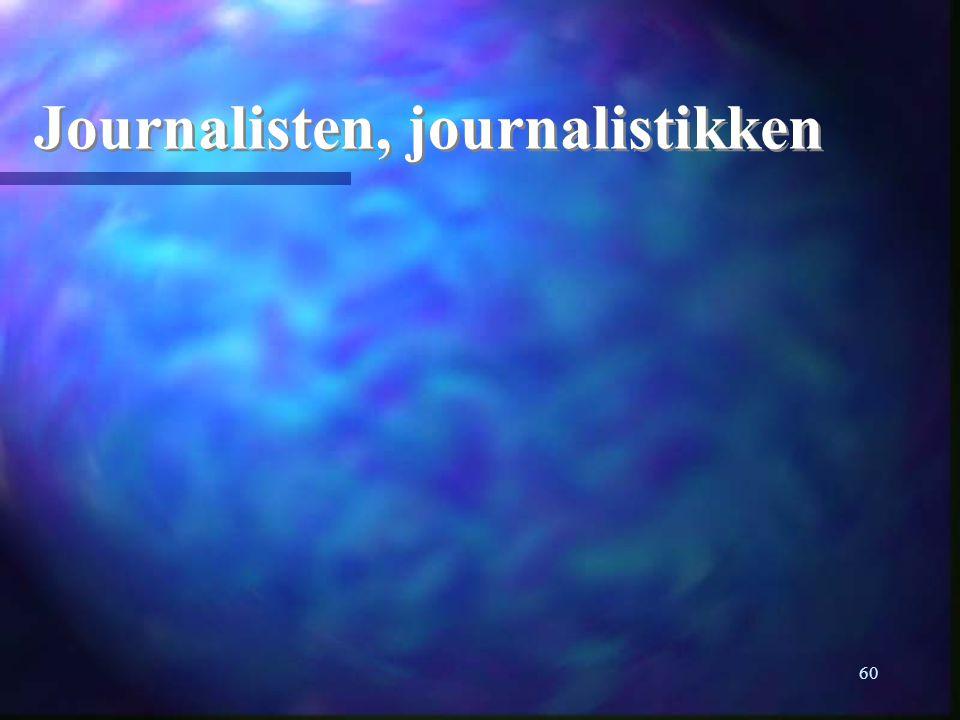 60 Journalisten, journalistikken
