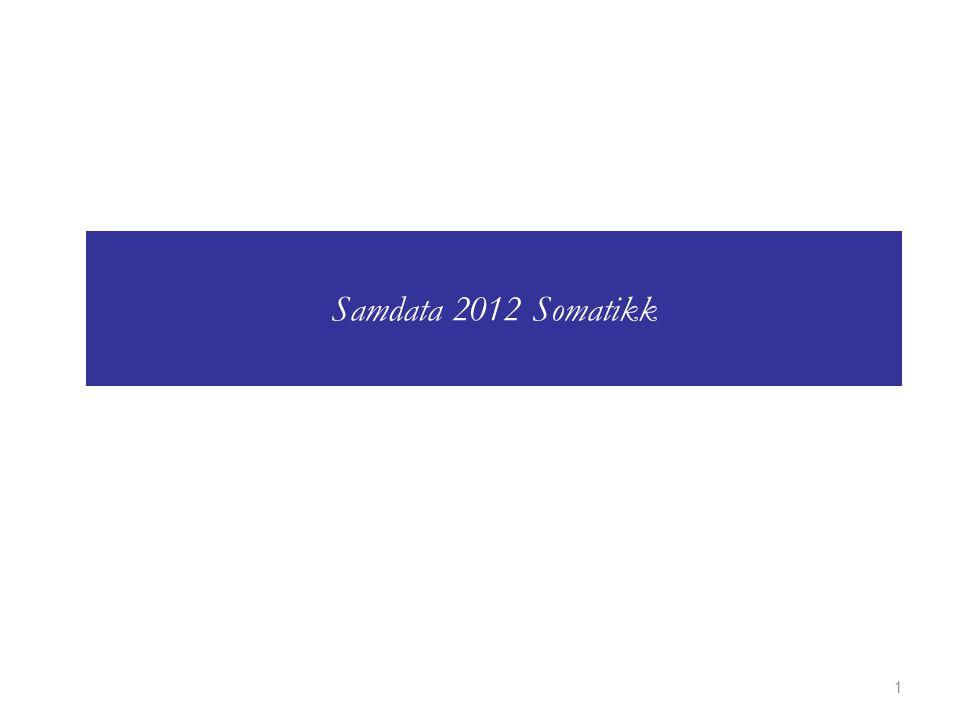1 Samdata 2012 Somatikk