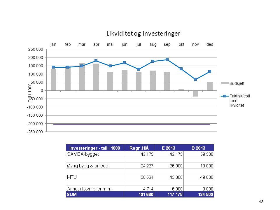 Likviditet og investeringer 48 6. Økonomi