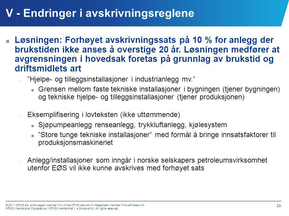 """© 2011 KPMG AS, a Norwegian member firm of the KPMG network of independent member firms affiliated with KPMG International Cooperative (""""KPMG Internat"""