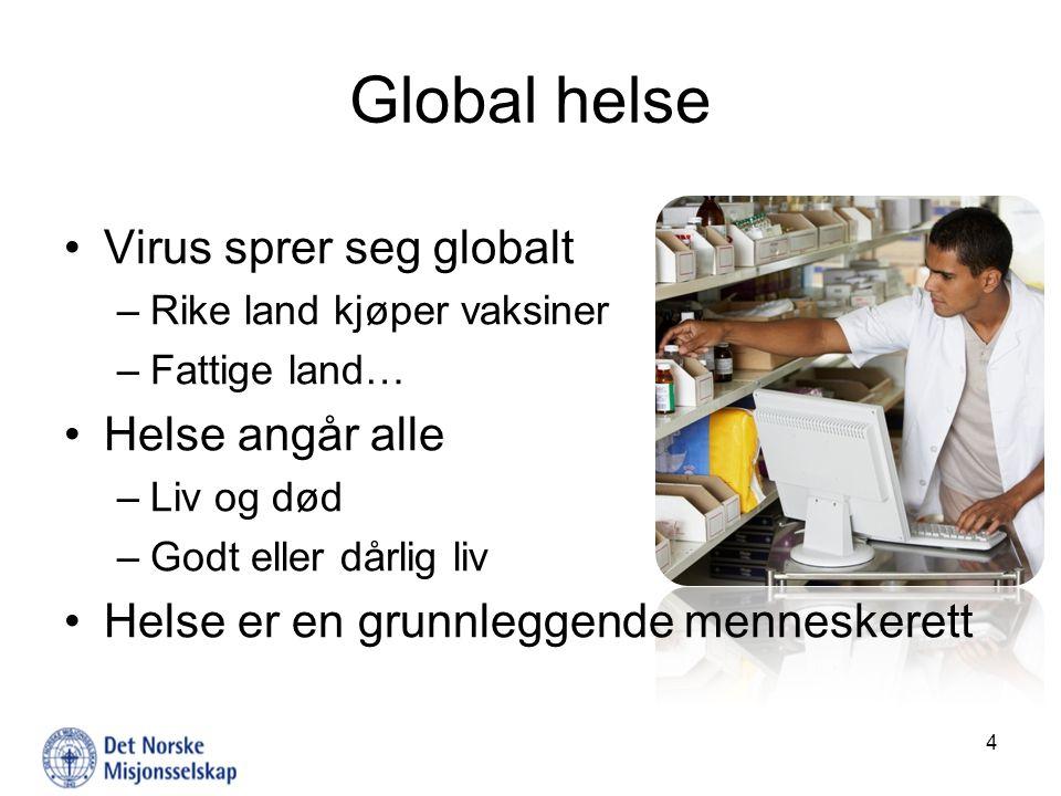 Lenker FN-sambandet: www.fn.nowww.fn.no NORAD: www.norad.nowww.norad.no FNs utviklingsprogram: www.undp.orgwww.undp.org Verdens helseorganisasjon: www.who.intwww.who.int UNAIDS: www.unaids.orgwww.unaids.org Det norske misjonsselskap: www.nms.nowww.nms.no Helsedirektoratet: www.helsedirektoratet.nowww.helsedirektoratet.no Leger uten grenser: www.legerutengrenser.nowww.legerutengrenser.no 15